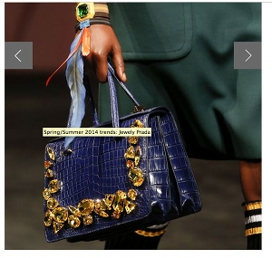 From French Vogue, a gemstone purse