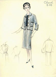Vintage Chanel Fashion Sketch